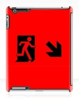 Running Man Exit Sign Apple iPad Tablet Case 49