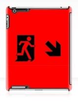 Running Man Exit Sign Apple iPad Tablet Case 49