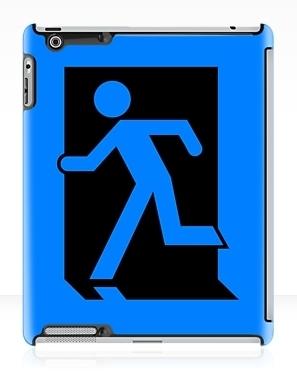 Running Man Exit Sign Apple iPad Tablet Case 5