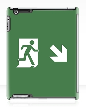 Running Man Exit Sign Apple iPad Tablet Case 50