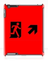 Running Man Exit Sign Apple iPad Tablet Case 51