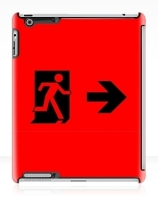Running Man Exit Sign Apple iPad Tablet Case 52