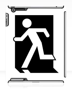 Running Man Exit Sign Apple iPad Tablet Case 54