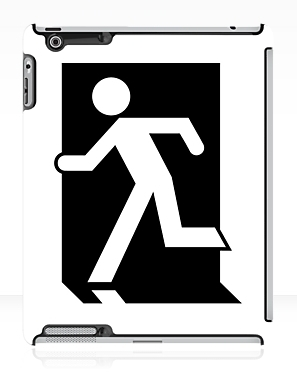 Running Man Exit Sign Apple iPad Tablet Case 54