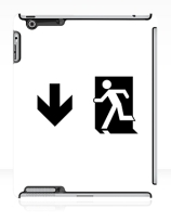 Running Man Exit Sign Apple iPad Tablet Case 55