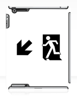 Running Man Exit Sign Apple iPad Tablet Case 56