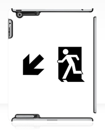 Running Man Exit Sign Apple iPad Tablet Case 56