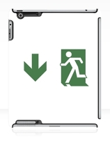 Running Man Exit Sign Apple iPad Tablet Case 57