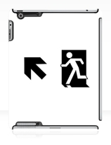 Running Man Exit Sign Apple iPad Tablet Case 58