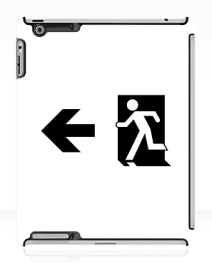 Running Man Exit Sign Apple iPad Tablet Case 59