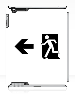 Running Man Exit Sign Apple iPad Tablet Case 59