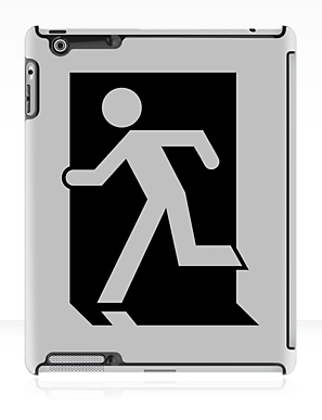 Running Man Exit Sign Apple iPad Tablet Case 6