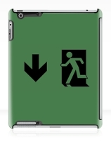 Running Man Exit Sign Apple iPad Tablet Case 60