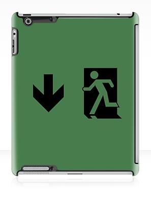 Running Man Exit Sign Apple iPad Tablet Case 60