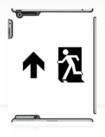Running Man Exit Sign Apple iPad Tablet Case 61