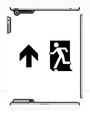 Running Man Exit Sign Apple iPad Tablet Case 61