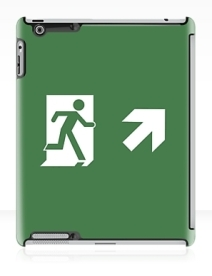Running Man Exit Sign Apple iPad Tablet Case 62