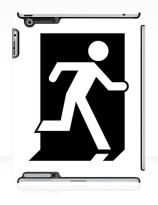 Running Man Exit Sign Apple iPad Tablet Case 63