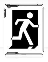 Running Man Exit Sign Apple iPad Tablet Case 63