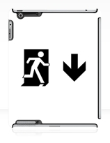 Running Man Exit Sign Apple iPad Tablet Case 64