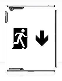 Running Man Exit Sign Apple iPad Tablet Case 64