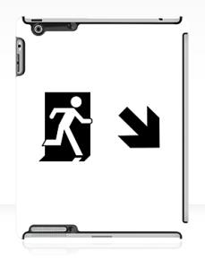 Running Man Exit Sign Apple iPad Tablet Case 65
