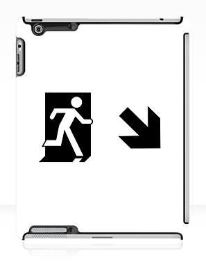 Running Man Exit Sign Apple iPad Tablet Case 65