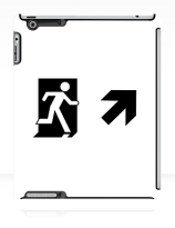 Running Man Exit Sign Apple iPad Tablet Case 66