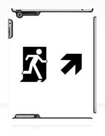 Running Man Exit Sign Apple iPad Tablet Case 66