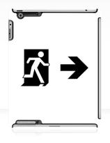 Running Man Exit Sign Apple iPad Tablet Case 67