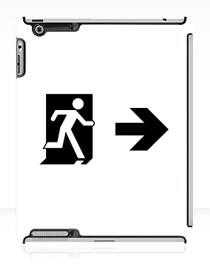 Running Man Exit Sign Apple iPad Tablet Case 67