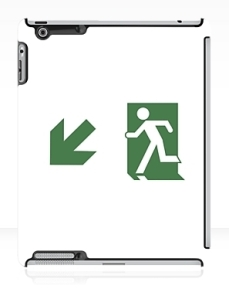 Running Man Exit Sign Apple iPad Tablet Case 68