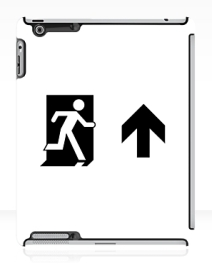 Running Man Exit Sign Apple iPad Tablet Case 69