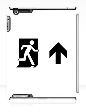 Running Man Exit Sign Apple iPad Tablet Case 69