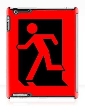 Running Man Exit Sign Apple iPad Tablet Case 7