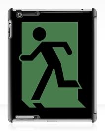 Running Man Exit Sign Apple iPad Tablet Case 70