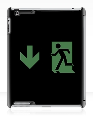 Running Man Exit Sign Apple iPad Tablet Case 71