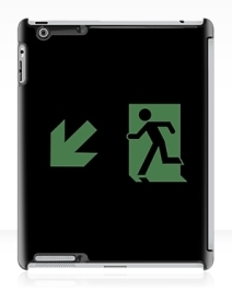 Running Man Exit Sign Apple iPad Tablet Case 72