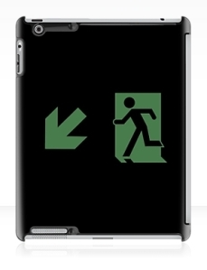 Running Man Exit Sign Apple iPad Tablet Case 72