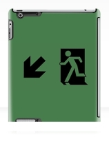 Running Man Exit Sign Apple iPad Tablet Case 73