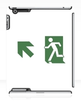 Running Man Exit Sign Apple iPad Tablet Case 74