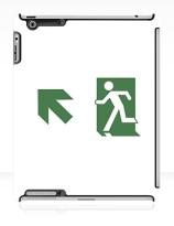 Running Man Exit Sign Apple iPad Tablet Case 74