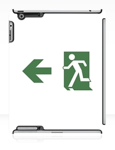 Running Man Exit Sign Apple iPad Tablet Case 75