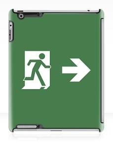 Running Man Exit Sign Apple iPad Tablet Case 77