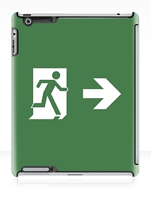 Running Man Exit Sign Apple iPad Tablet Case 77