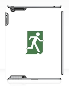 Running Man Exit Sign Apple iPad Tablet Case 78