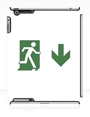 Running Man Exit Sign Apple iPad Tablet Case 79