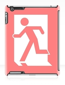 Running Man Exit Sign Apple iPad Tablet Case 8