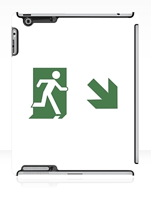 Running Man Exit Sign Apple iPad Tablet Case 80