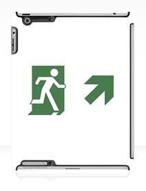 Running Man Exit Sign Apple iPad Tablet Case 81